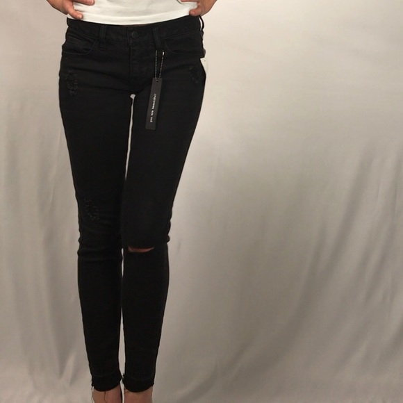 Dollhouse Denim - Dollhouse Black Distressed Jeans